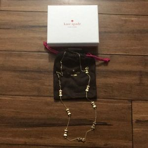 Brand new Kate Spade Take a Bow Gold Necklace!